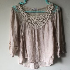 Lace 3/4 sleeve Blouse.